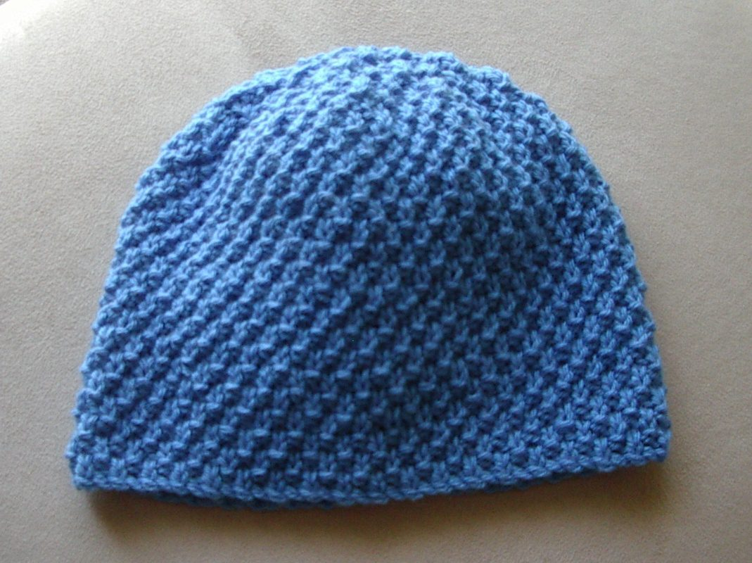 Double Moss Stitch Knitting In The Round : Ply cable scarf beanie