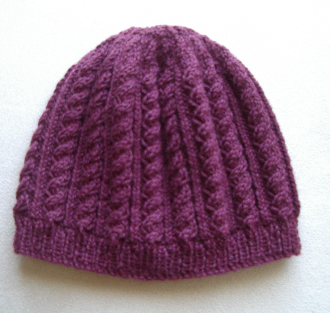 Knitting Pattern For Beanie For Baby : Sally - 8ply Cable