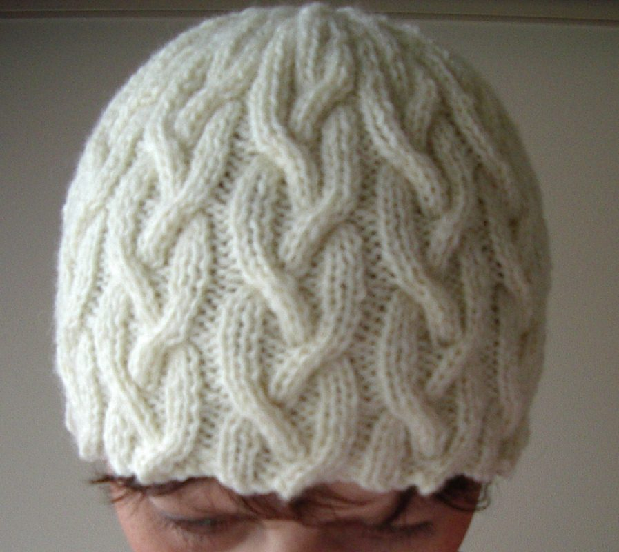 Free Knitting Pattern For Beanie In 8 Ply : 6. Avery - 12ply Round Cable