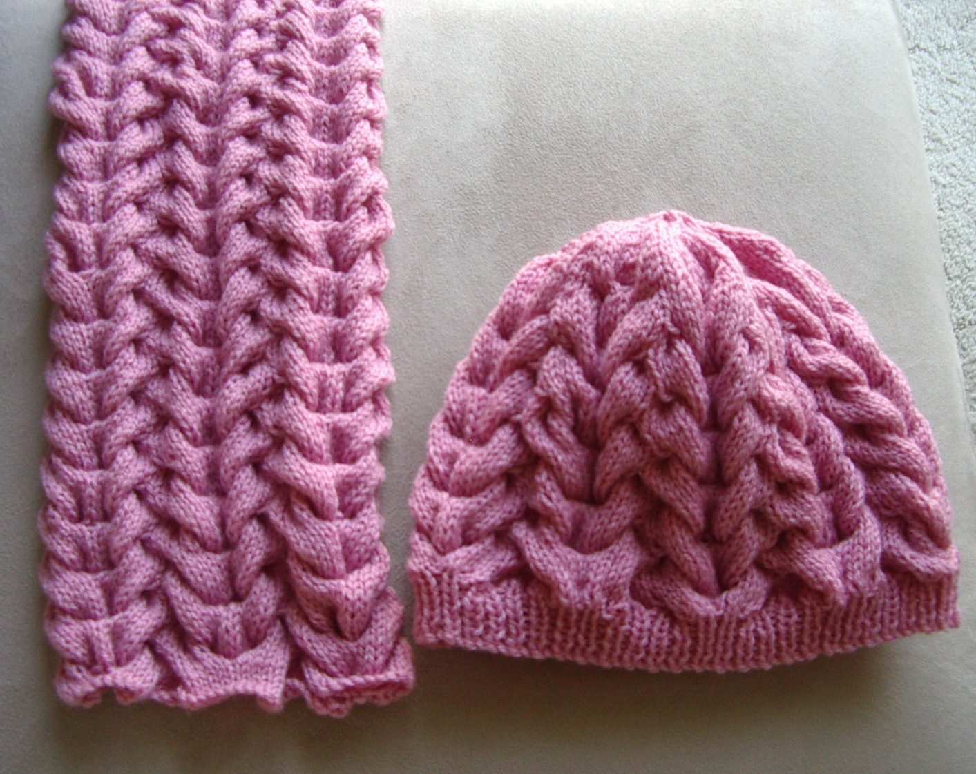Knitting Pattern For Scarf And Beanie : add to cart